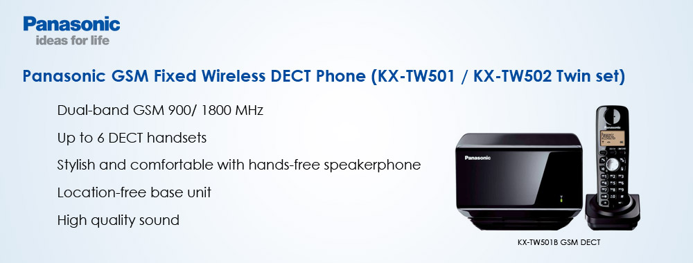 Panasonic New GSM DECT Phone. Available at Jia Ying Trading (Singapore).